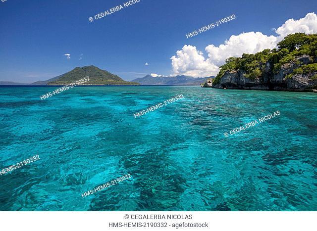 Indonesia, Lesser Sunda Islands, Alor archipelago, Buaya Island and Ternate Island in background
