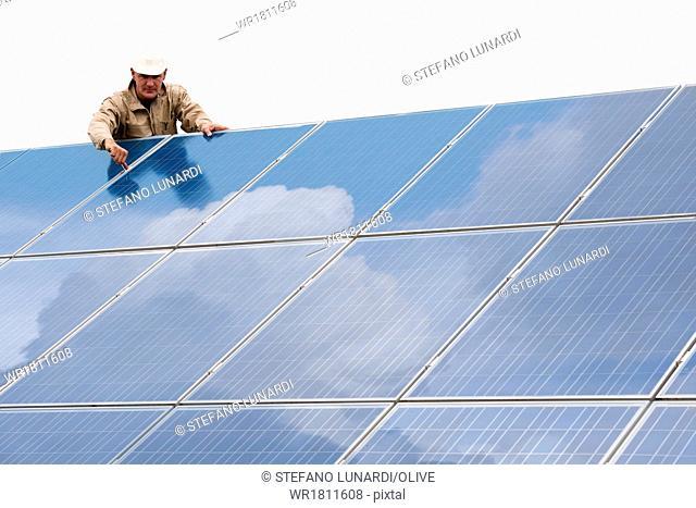 Working On Solar Panels
