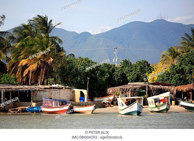 Venezuela, Margarita island, el Yaque, fisherman's boat