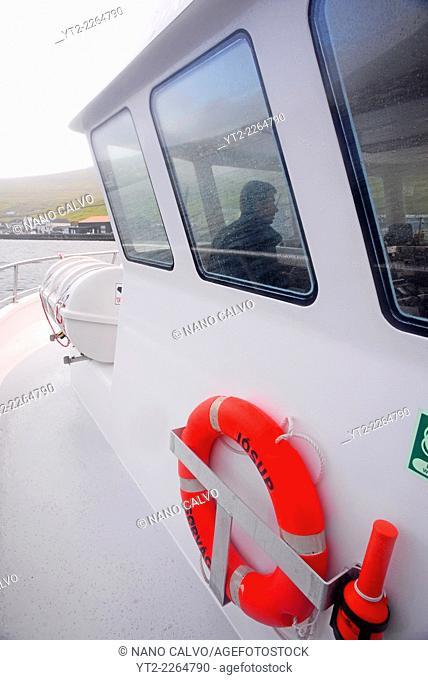 Jósup ferry to Mykines, Faroe Islands