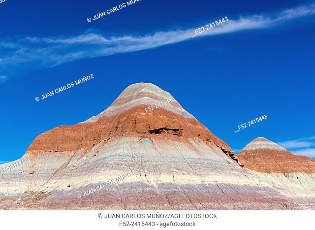 The Teepees, Badlands, Petrified Forest National Park, Arizona, USA, America