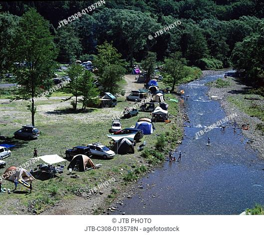 Auto camping, Aqua Green Village, Nishimeya, Aomori, Japan