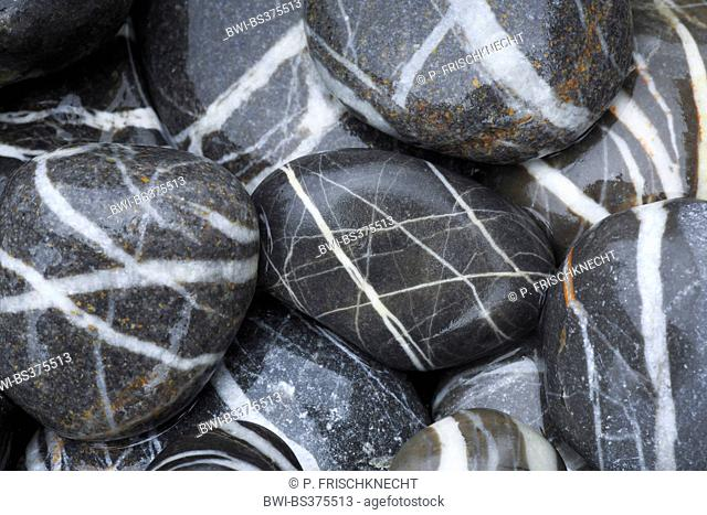veined pebbles, Switzerland