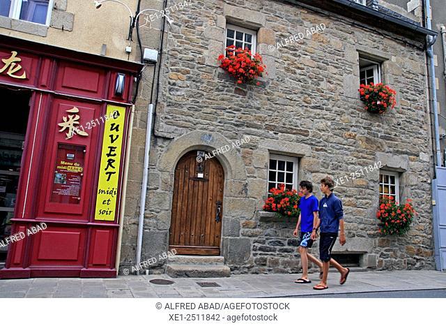Street, Roscoff, Brittany, France