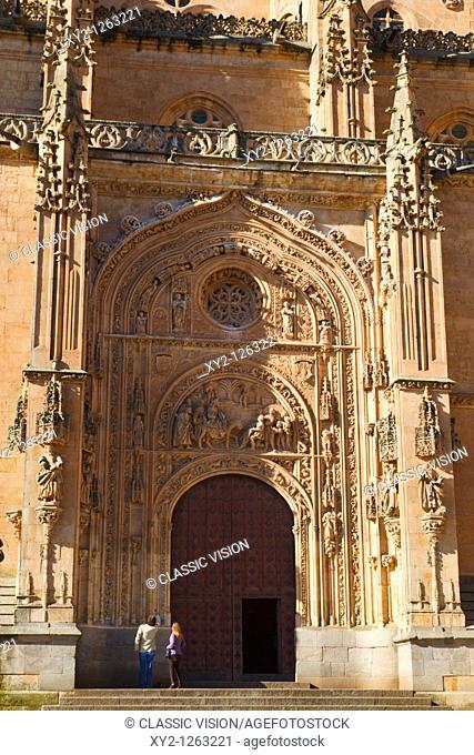 Salamanca, Salamanca Province, Spain  Cathedral door, northern side  Puerta de Ramos or de las Palmas  Door of the Branches or of the Palms