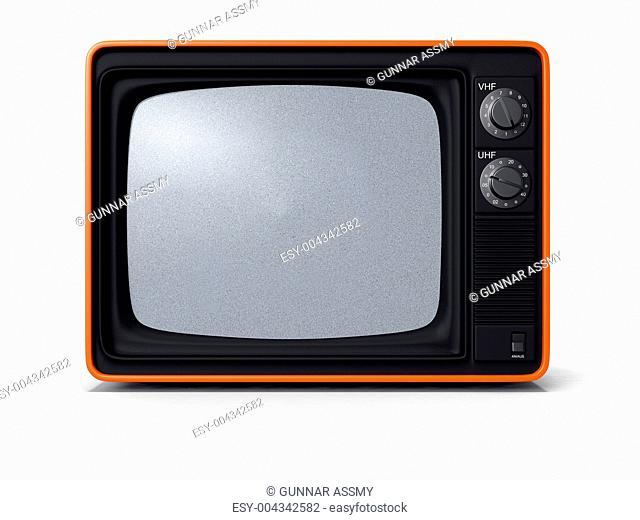 TV retro orange 3D
