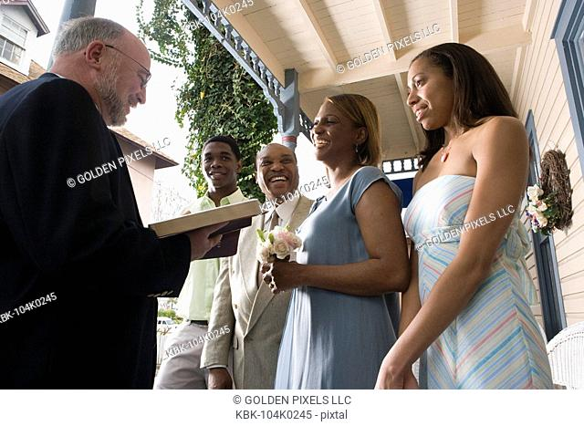 African American couple renewing vows