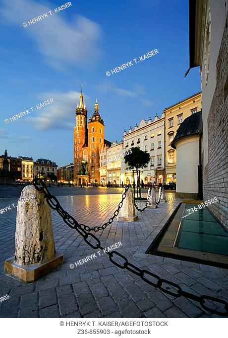 Poland Krakow St Adalbert and St Mary's church
