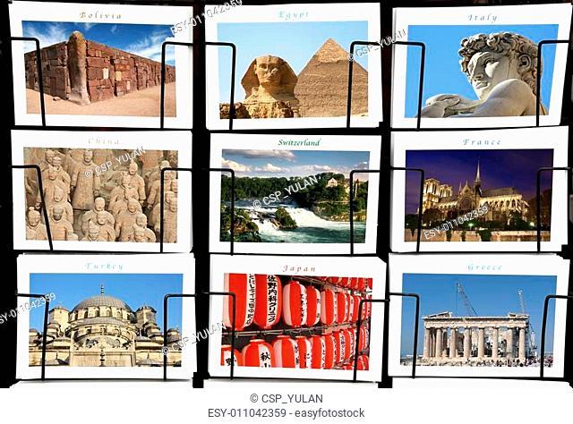 World Landmark collage
