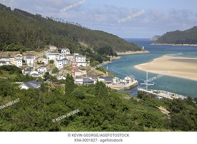 Barqueiro Village and Beach; Galicia; Spain
