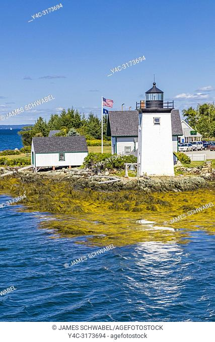 Grindle Point Light on Islesboro Island in Penobscot Bay in Maine in the United States
