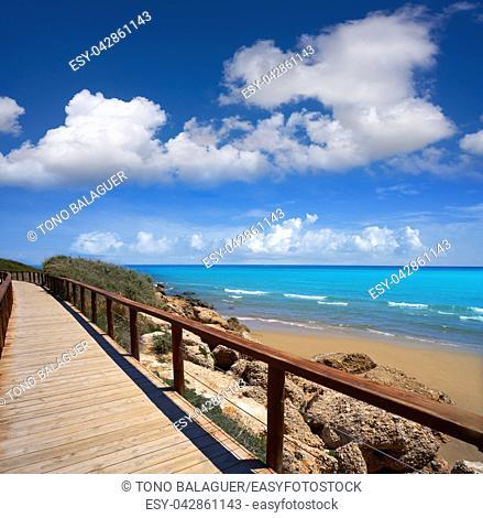 Romana beach playa in Alcossebre also Alcoceber in Castellon of Spain