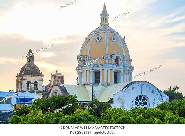 San Pedro Claver church in Cartagena, Colombia, South America