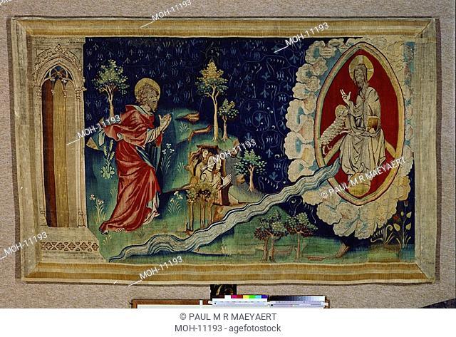 La Tenture de l'Apocalypse d'Angers, Le fleuve coulant du trône de Dieu 1,44 x 2,42m, der Strom lebendigen Wassers aus dem Thron Gottes