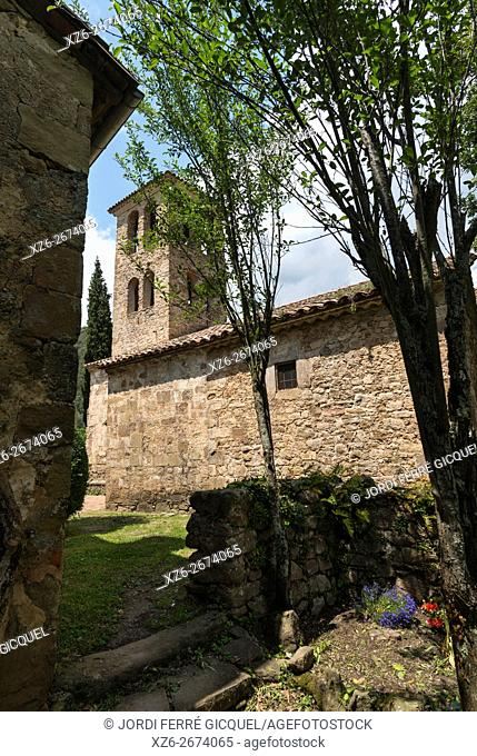 Romanesque church of Sant Martí de Capsec in La Vall de Bianya, Catalonia, Spain, Europe