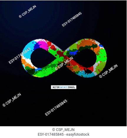Abstract infinity symbol on Black Background