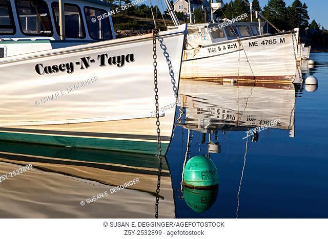 Fishing Boat Reflection, Corea, Maine
