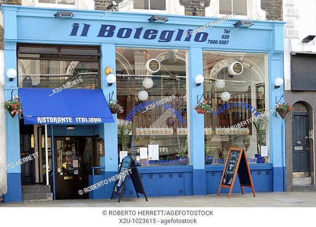 Il Boteglio Italian restaurant in Long Lane, Farringdon, London, England