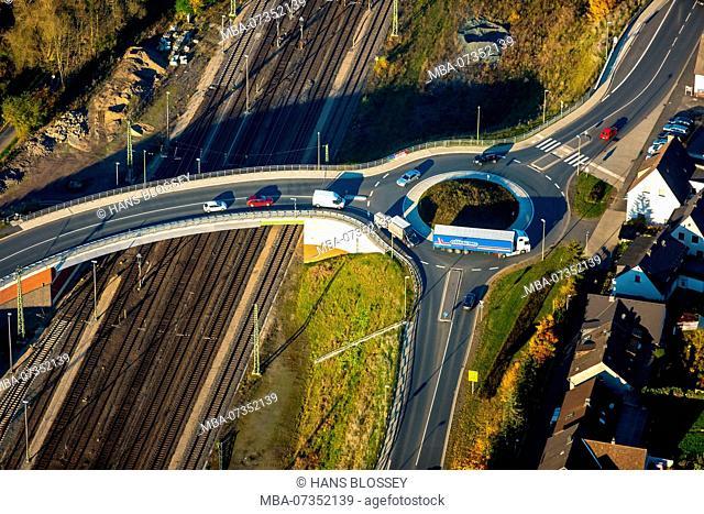 new roundabout Finnentrop, Finnentrop, Sauerland, North Rhine-Westphalia, Germany
