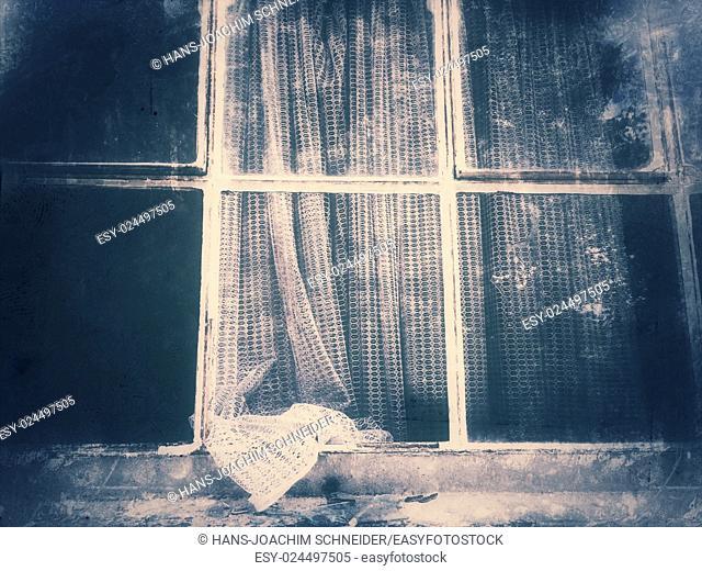 old window in vintage look