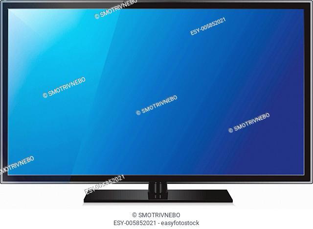 TV flat screen lcd, plasma realistic vector illustration