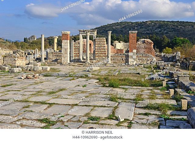 Ephesus, Greek, roman, ancient, history, turkey, roman empire, building, architecture, archaeology, church, ecumenical council, ecumenical, St Mary's church