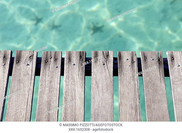 Detail of the jetty at Kapalai Island, Borneo, Malaysia