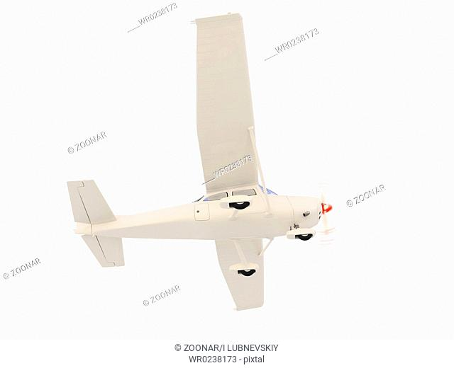isolated small airplane over white background