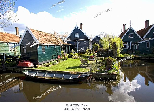 houses in the open-air museum Zaanse Schans