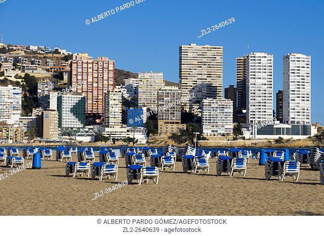 Benidorm Beach, alicante, Spain