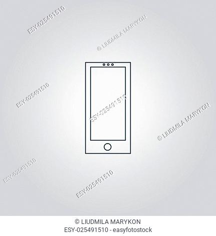 smartphone. Flat web icon or sign isolated on grey background. Collection modern trend concept design style vector illustration symbol