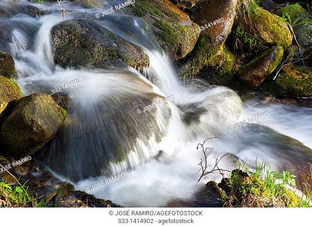 Waterfull in the Solana Toro stream  Sierra de Gredos  Ávila  Castilla León  Spain