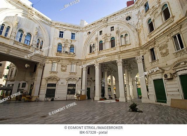 Classical buildings in the italian quarter, Tripoli, Libya