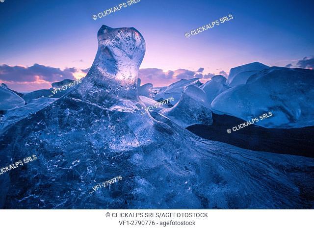 Jokulsarlon glacier lagoon, Southern Iceland