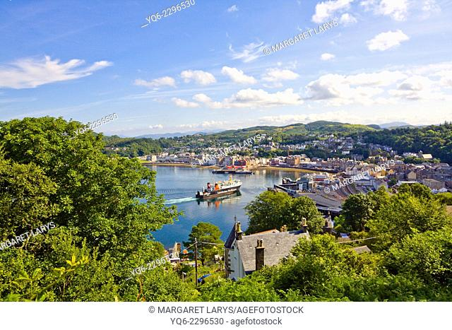 Oban seen from Druim Mor, Scotland, United kingdom