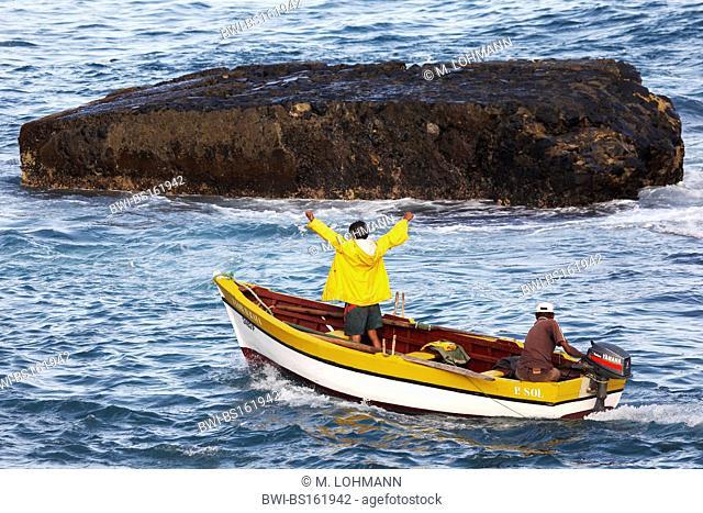 fishermen going out, Cap Verde Islands, Cabo Verde, Santo Antao, Ponta Do Sol