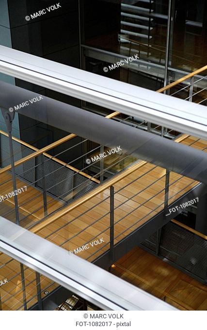 Elevated walkways in a building