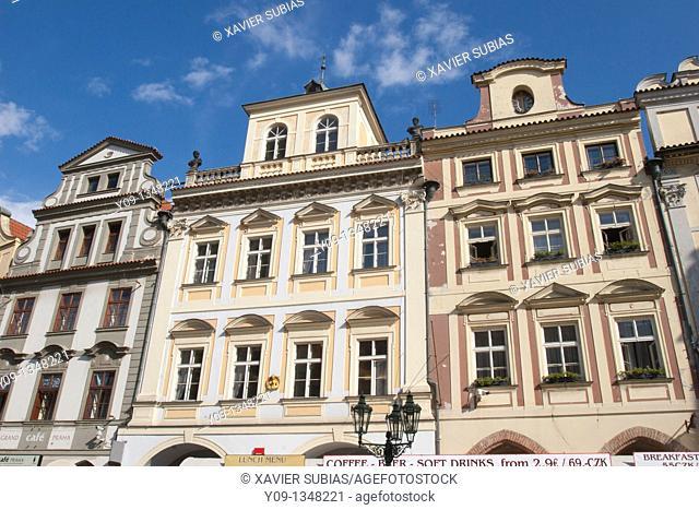 Houses Staromestske Namesti square, Prague, Czech Republic, Europe