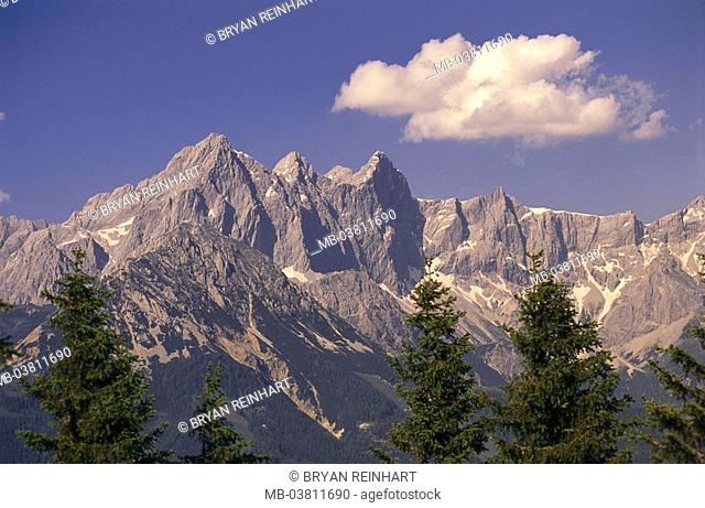 Austria, Salzburger country, roof stone,    Europe, northern lime Alps, lime high plateau, mountains, mountains, culture landscape, UNESCO-Weltkerbe, heaven