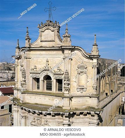 San Matteo Church, Lecce, by Carducci (or Larducci) Achille, 1667 - 1700, 17th Century, Lecce stone. Italy; Puglia; Lecce; Lecce; San Matteo Church;