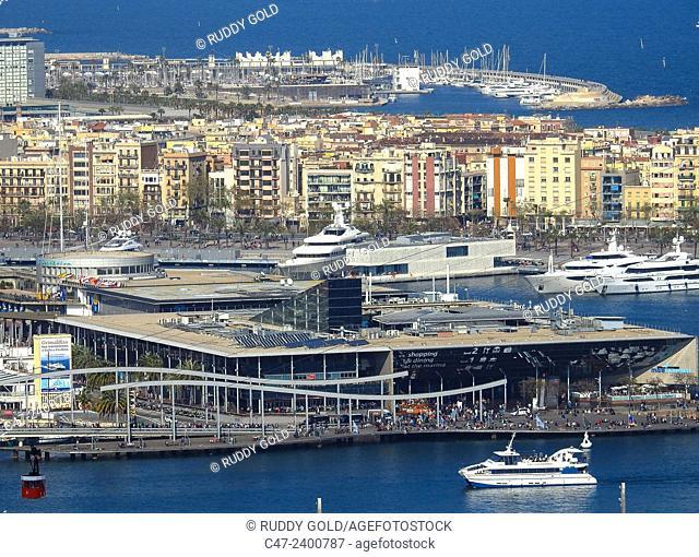 Maremagnum stores. Port. Barcelona, Catalonia, Spain