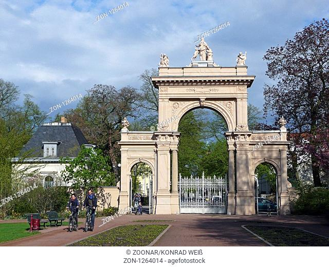 Gateway to the citizens in Pankow Park