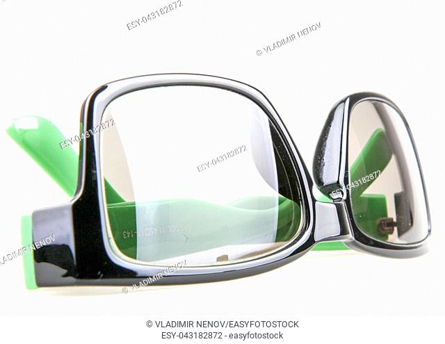 Eyeglasses With Green Rim