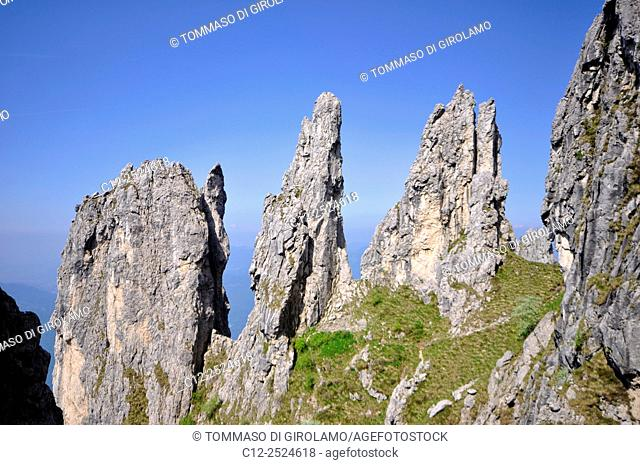 Italy, Lombardy, Grignetta mount, Spiers