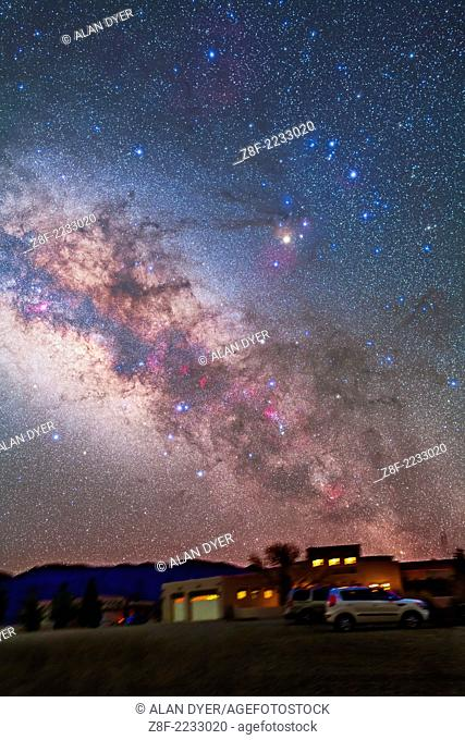 Scorpius in the pre-dawn sky, March 15, 2013, from the Painted Pony Resort, New Mexico. This is a stack of 5 x 3 minute exposures at f/2