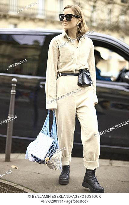 fashionable woman, in Paris, France