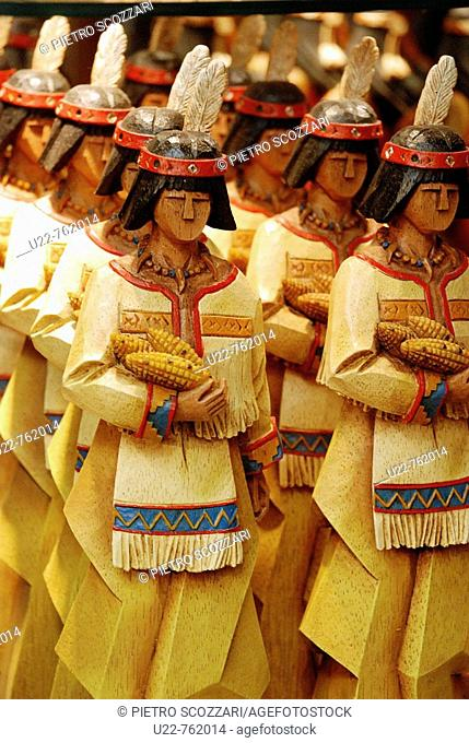 Arizona USA, native American dolls sold in a shop as souvenir for tourists