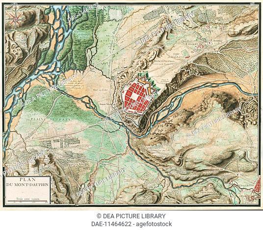Cartography france 17th century map of paris created by france 18th century map of mont dauphin from cartes des gumiabroncs Images