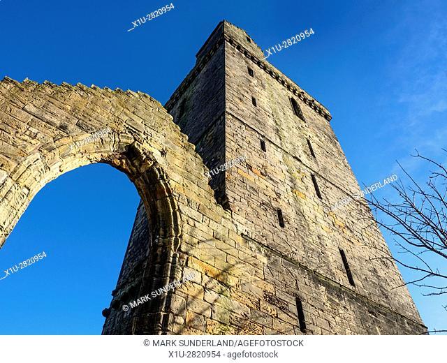 Old St Serfs Parish Church Tower Dysart Fife Scotland