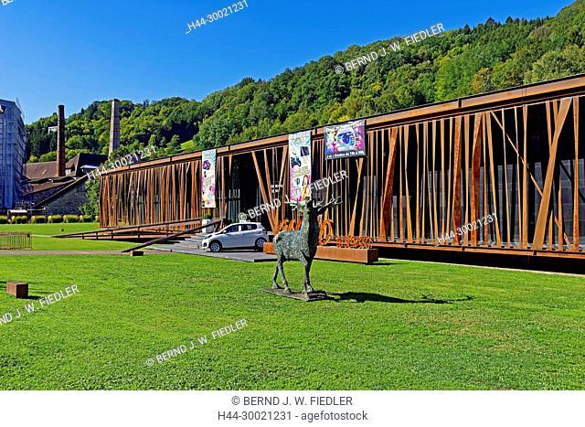 Casino de Salins-les-Bains, Hirsch, röhren, Kunstwerk